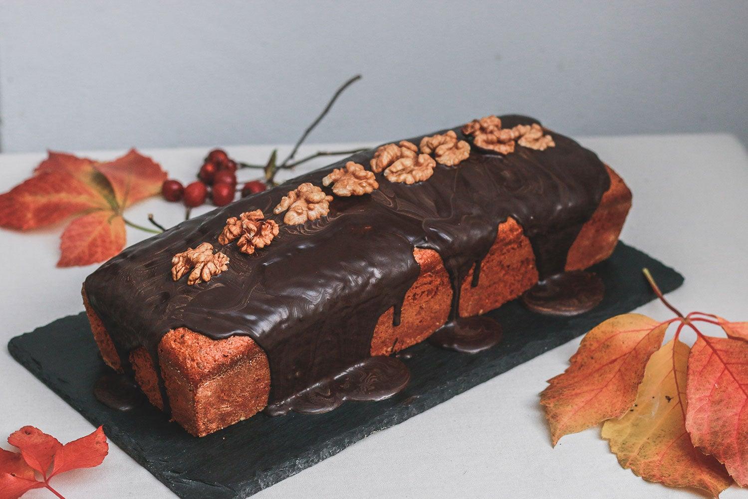 Bezlepkový ořechový chlebíček s čokoládou