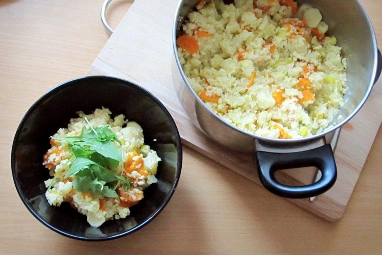 Jednoduchý kuskus s vařenou zeleninou