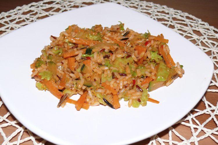 Zeleninové rizoto ze 3 druhů rýže