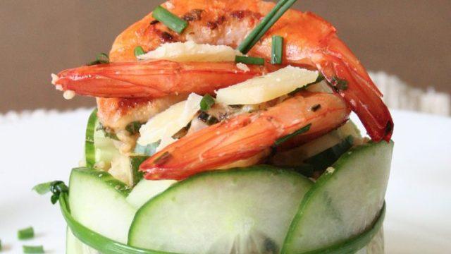 Krevety se zeleninovým kuskusem