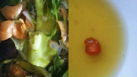 """Zeleninový vývar """"ze zbytků"""""""