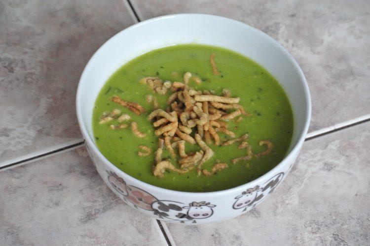 Krémová hrášková polévka za 15 minut